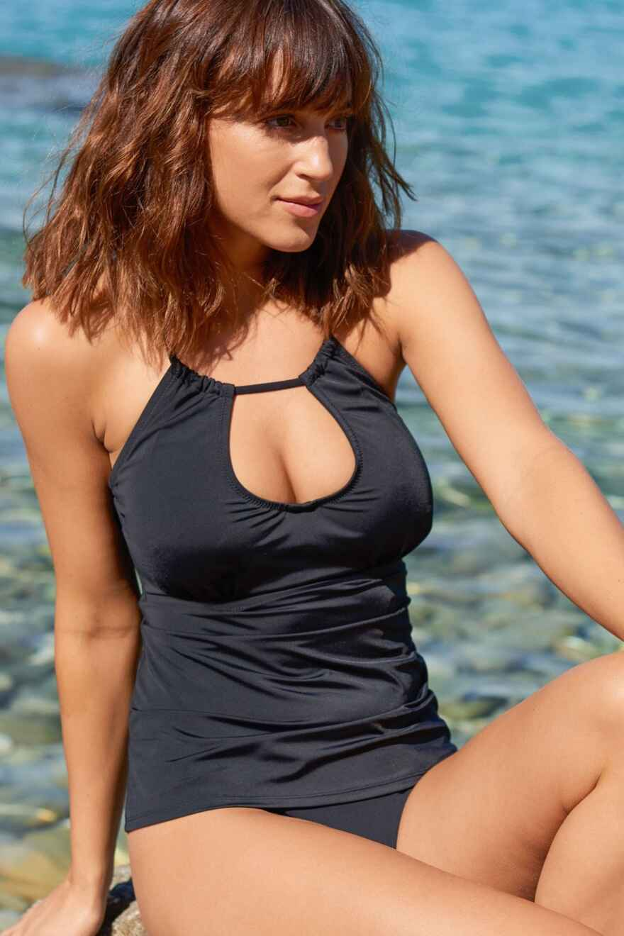 43b5d4565094c sale · LBB Ring Neck Hidden Underwired Tankini Top - Black