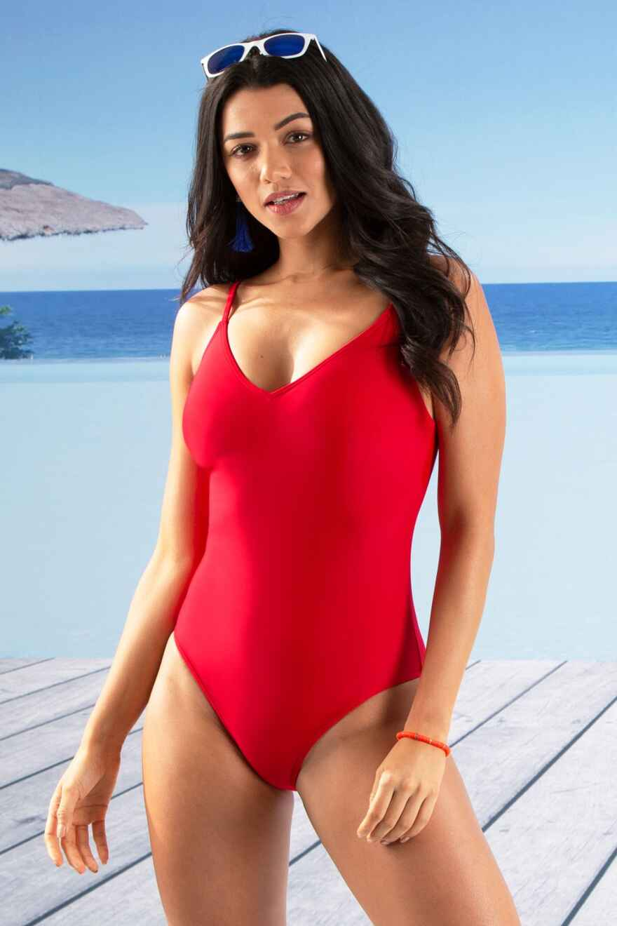 4e0feb20335b2 sale · Getaway Strapped Swimsuit - Red