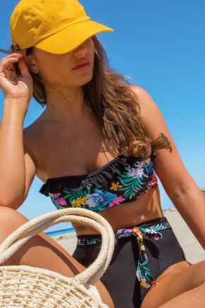 Miami Brights Belted  High Waisted Control Brief - Multi
