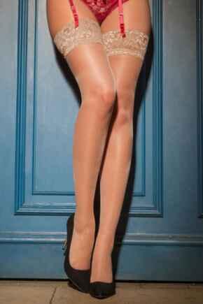 Allure Lace Top 15 Denier Stocking - Neutral