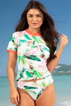 Tropics Short Sleeve Rash Vest - Multi