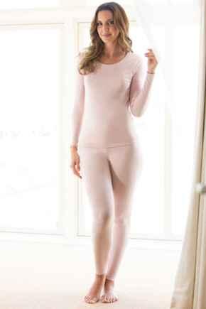 Second Skin Thermal Leggings - Pink