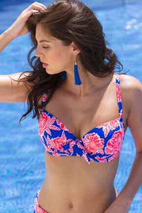 Heatwave Padded Underwired Top - Tropicana