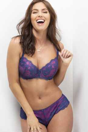 Amour Shorty - Blue/Pink