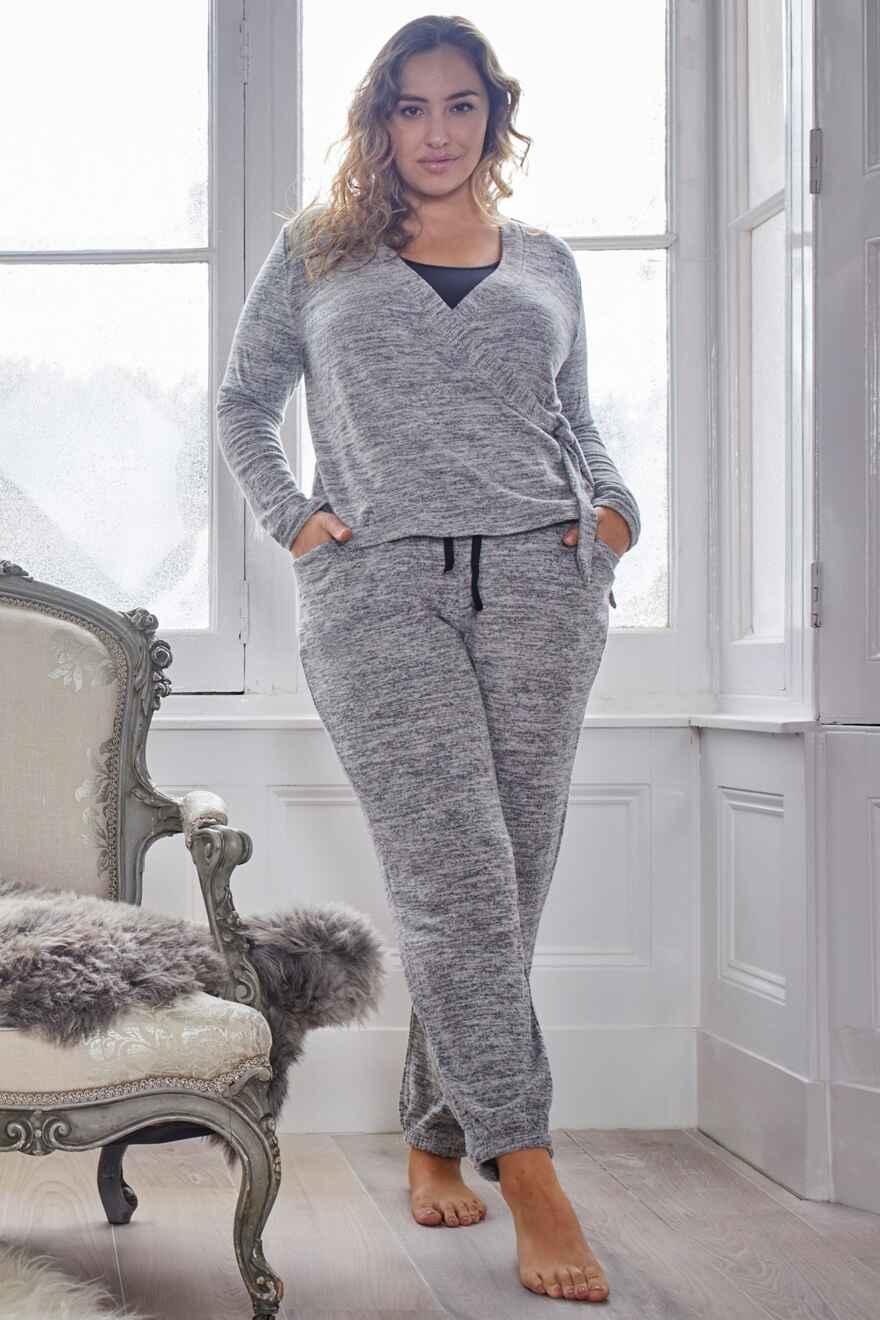 7657 Grey Marl Pour Moi Sofa Loves Lace Secret Support Playsuit