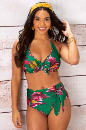 Paradiso Triangle Hidden Underwired Top - Green