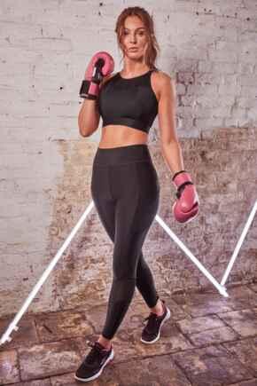 Energy Mesh Panel Sports Leggings - Black