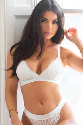 India Removable Padded Soft Triangle Bra - White