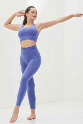 Energy Seamless Logo Legging  - Ultramarine Melange