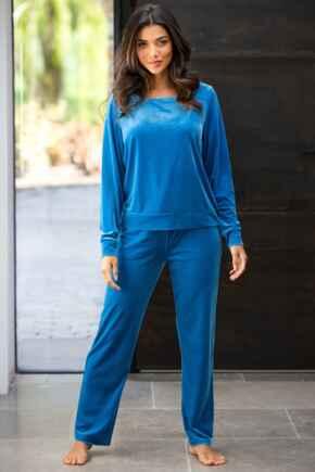 Velour Pyjama Set - Blue