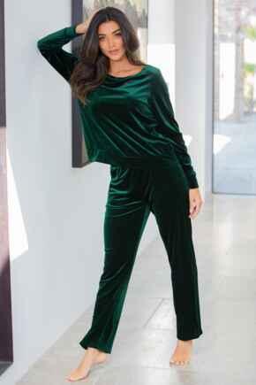 Velour Pyjama Set - Emerald