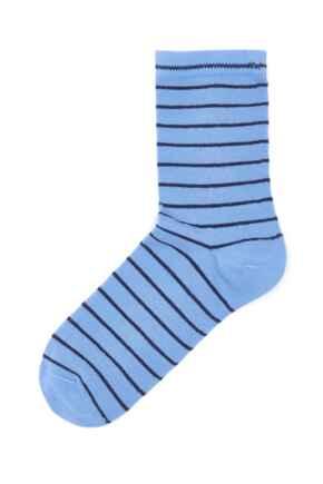 Pippa Stripe Lurex Sock - Blue/Cobalt