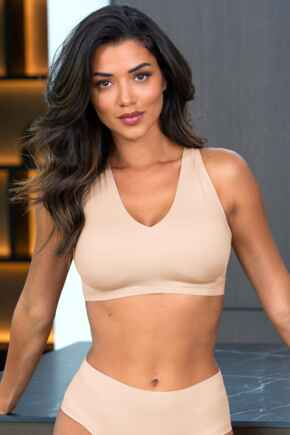 Off Duty Invisible Non wired Bra - Oyster
