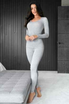 Second Skin Thermal Legging  - Grey