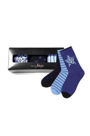 Pippa Sock Gift Pack - Cobalt
