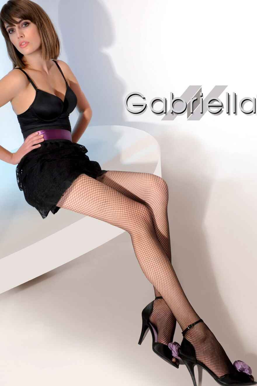 017bc8be1de78 CHANCE · Gabriella Model 151 Fishnet Tights - Black