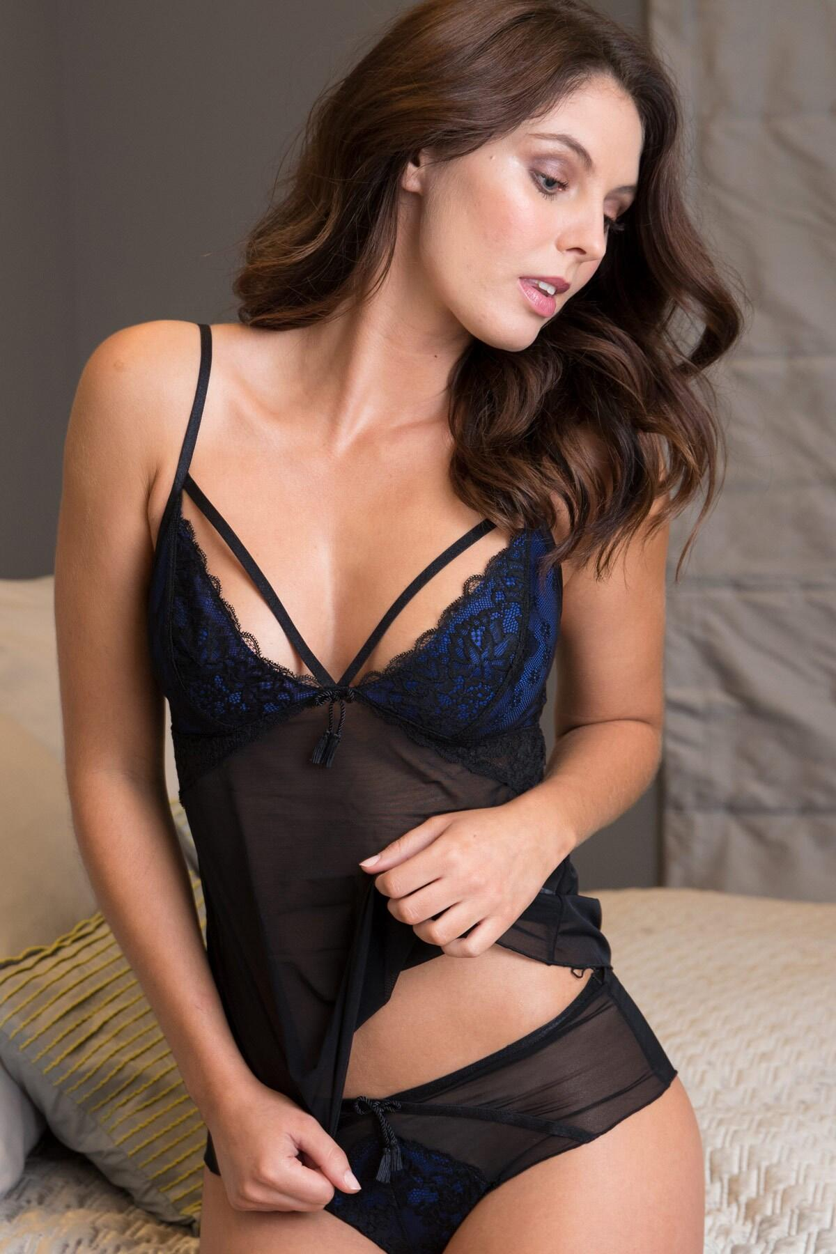Hush Camisole  - Blue/Black
