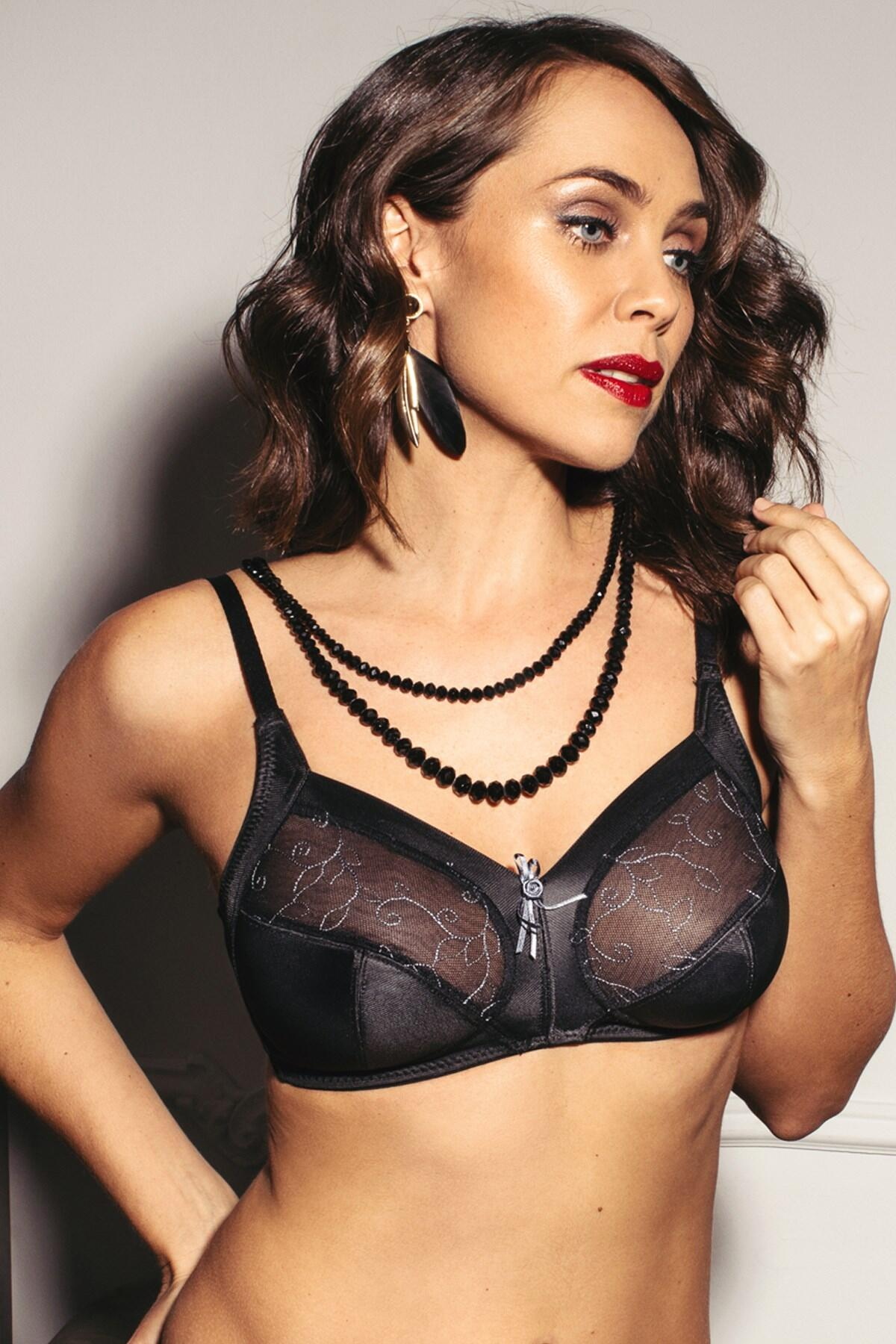 Imogen Rose Wire Free Soft Bra - Black/Platinum