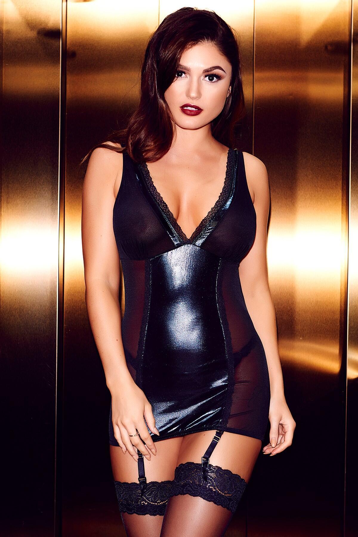 Fierce Cami Suspender  - Black