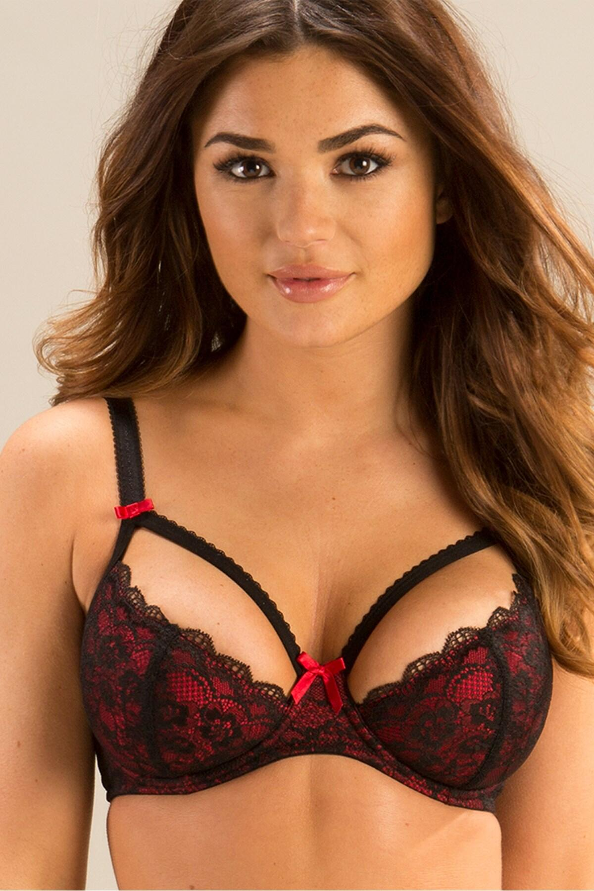 Instinct Lightly Padded Bra - Black/Red