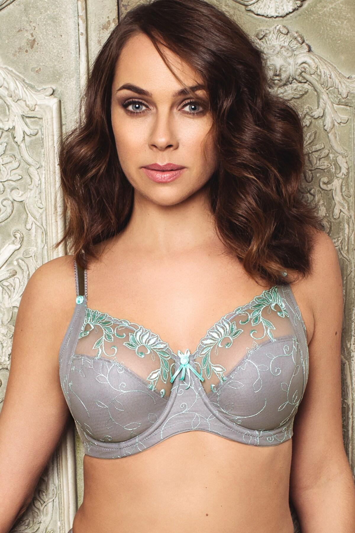 Imogen Rose Embroidered Bra - Silver/Mint