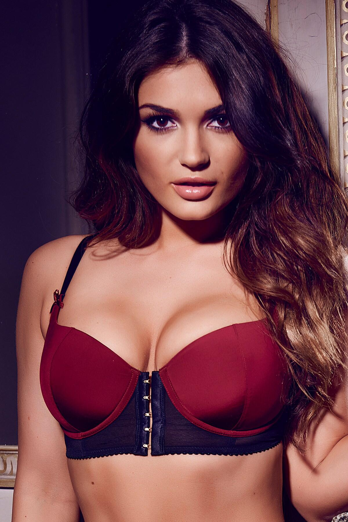 5fb48bf8c Pour Moi  Contradiction Hook Up Underwired Bra Black Wine