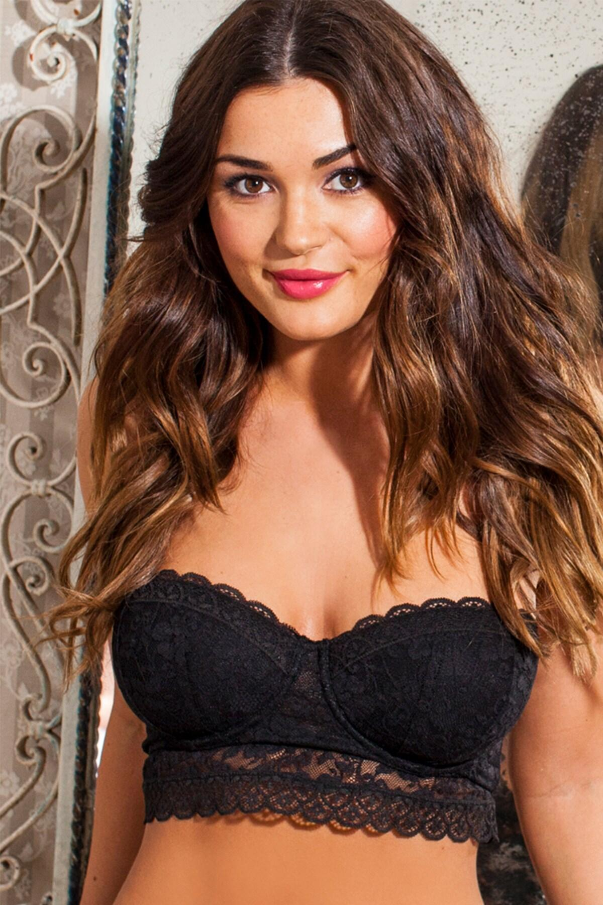 Rebel Strapless Longline Bra - Black