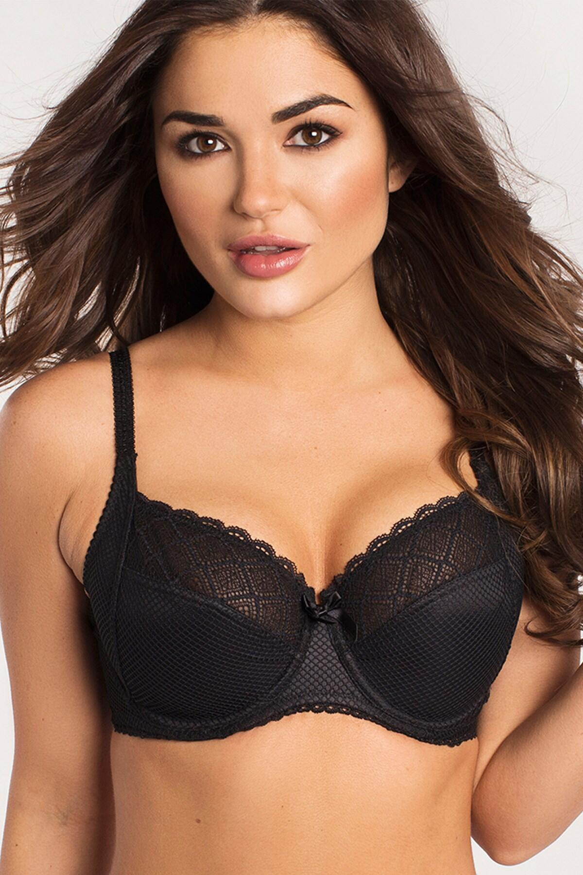 Pour Moi  Electra Side Support Underwired Bra Black cc63e996f