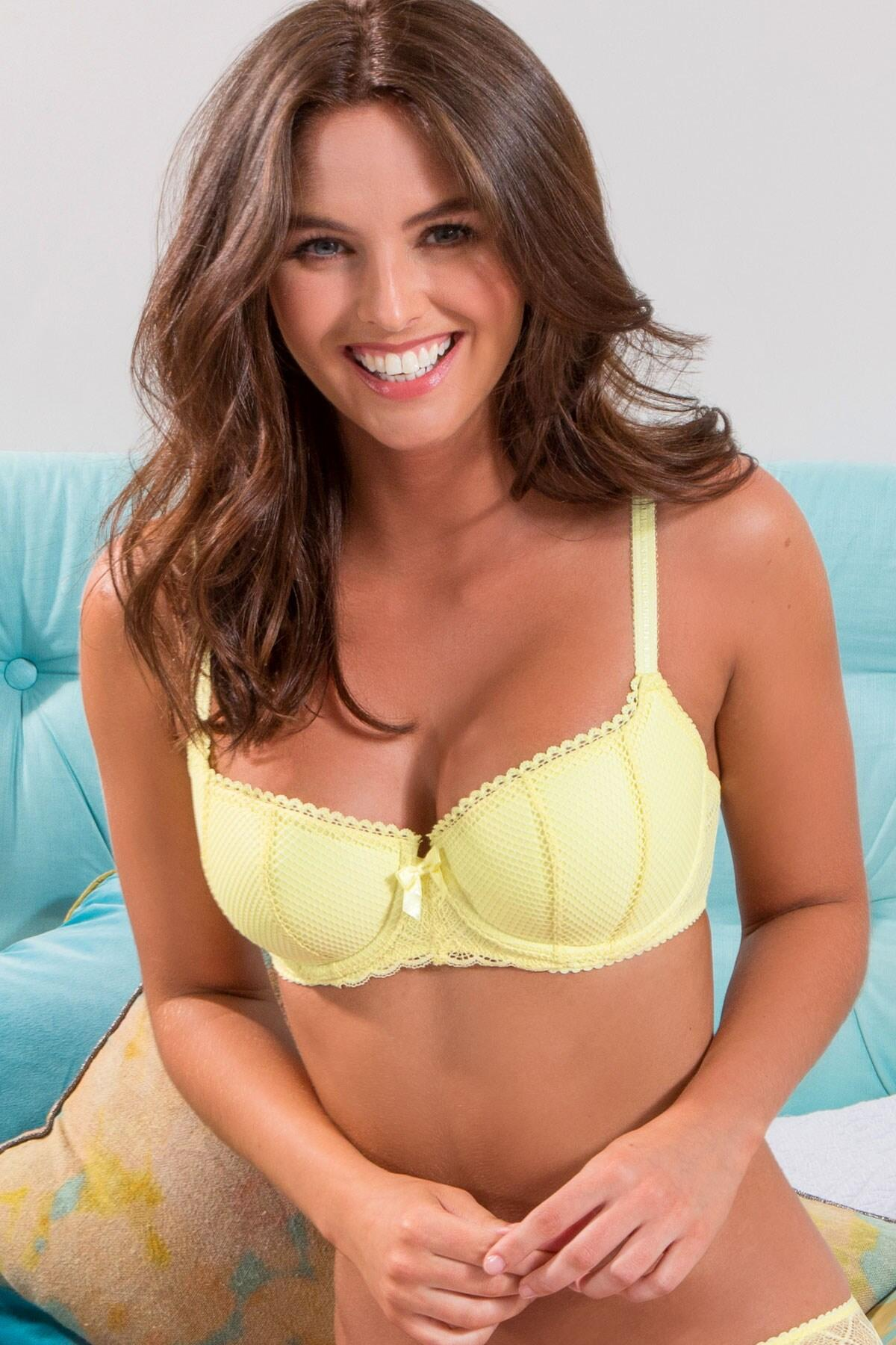 Electra Padded Balcony Bra - Yellow