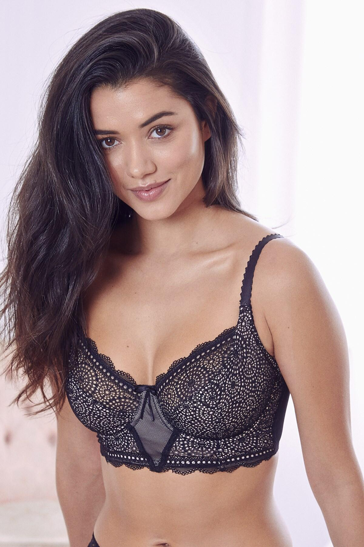 Eclipse Longline Underwired Bra - Black