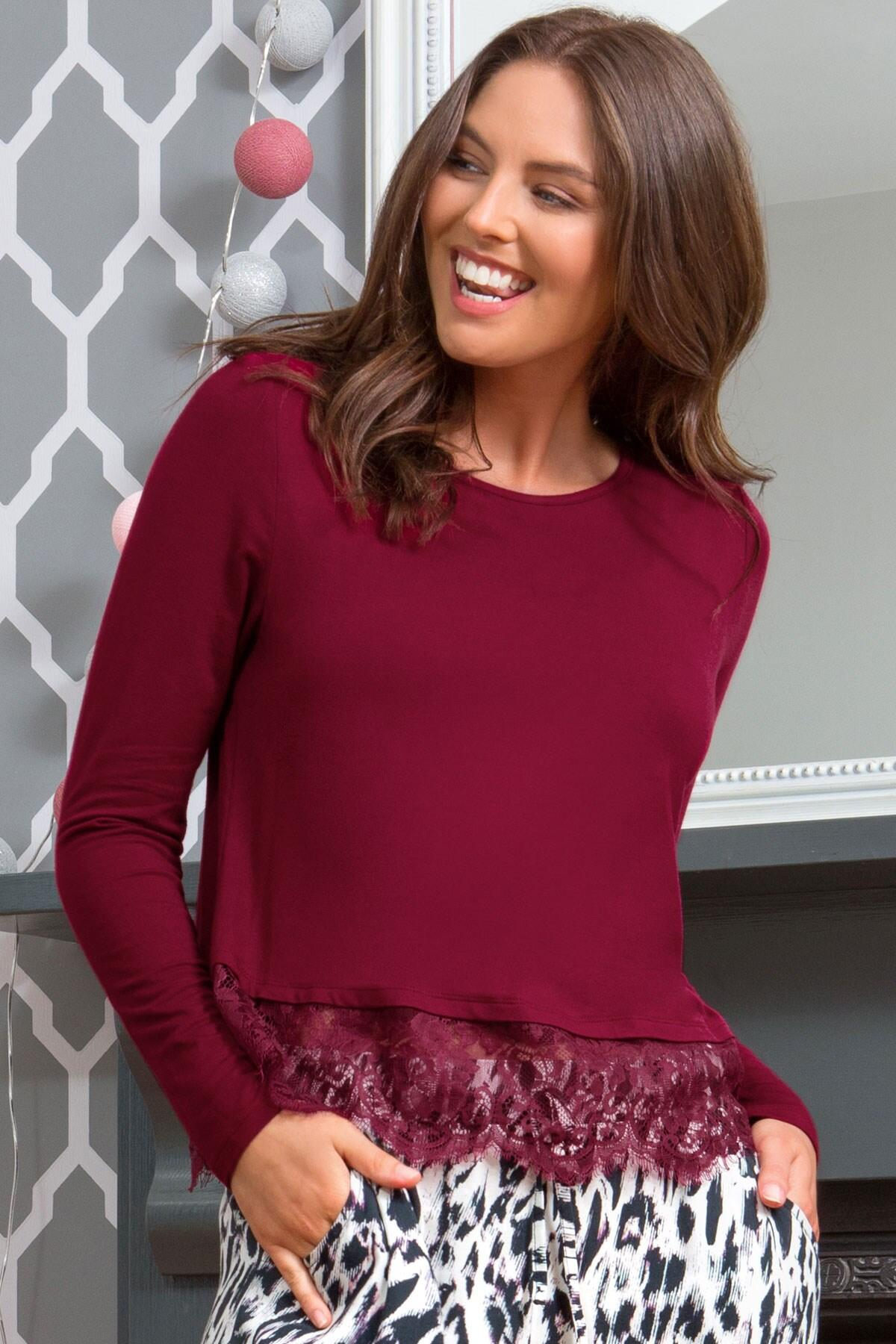 Sofa Love Secret Support Long Sleeve Top - Berry