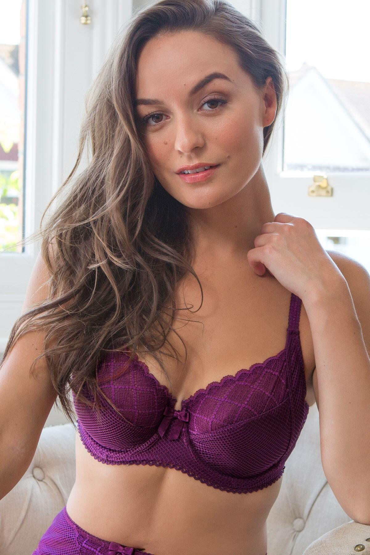 Electra Side Support Underwired Bra - Mulberry