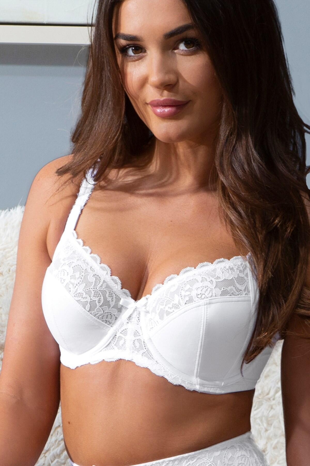 Eden Side Support Underwired Bra - White