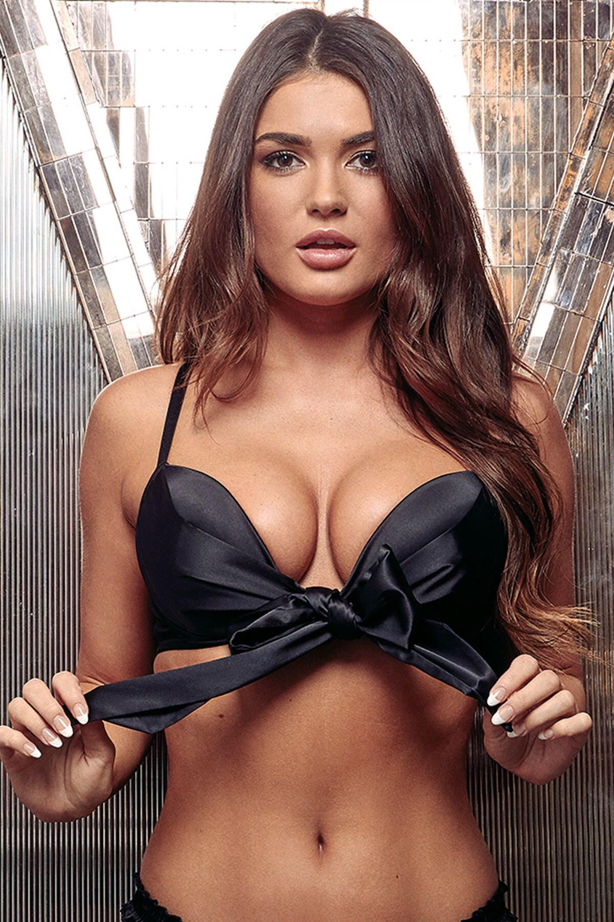 All Wrapped Up Front Fastening Bow Padded Bra - Black