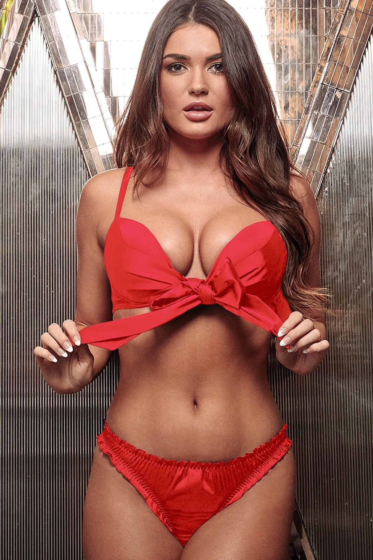All Wrapped Up Tie Back Thong - Red