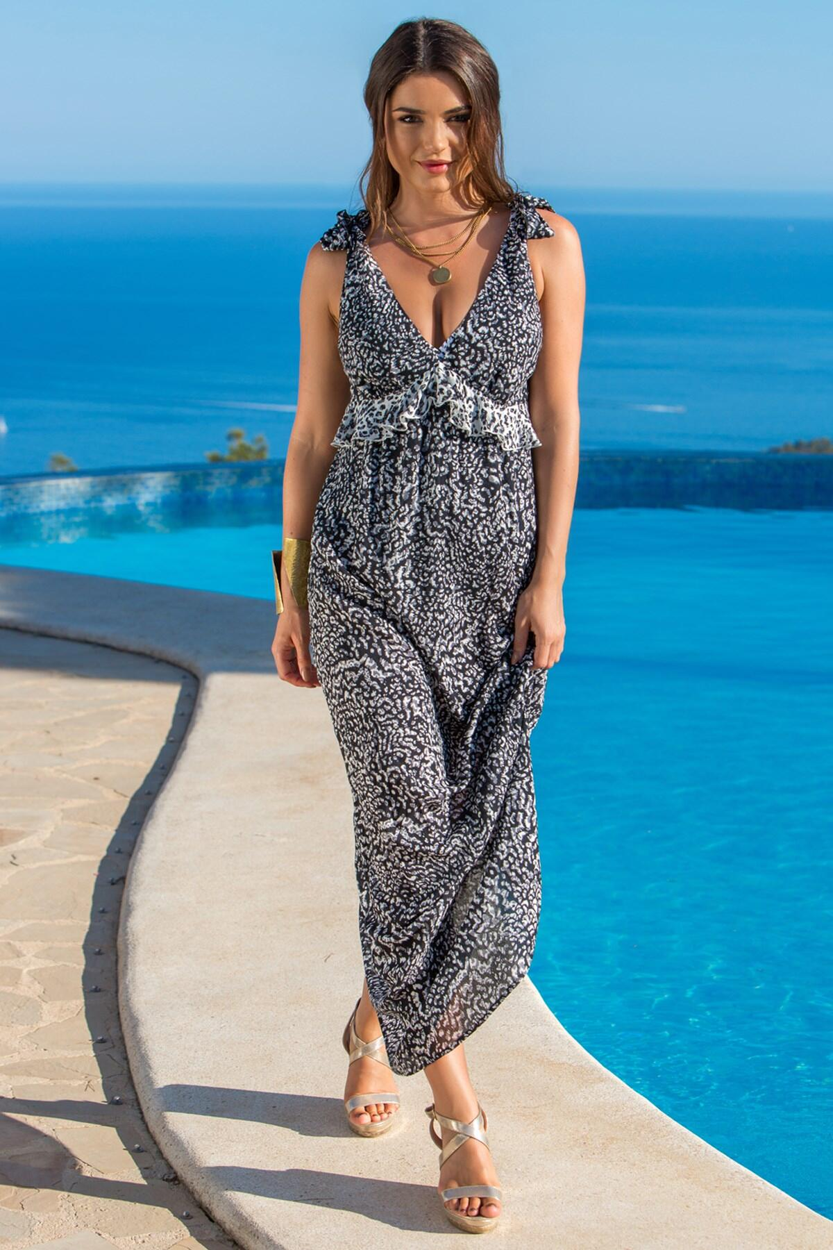 Mixology Maxi Dress - Black/White