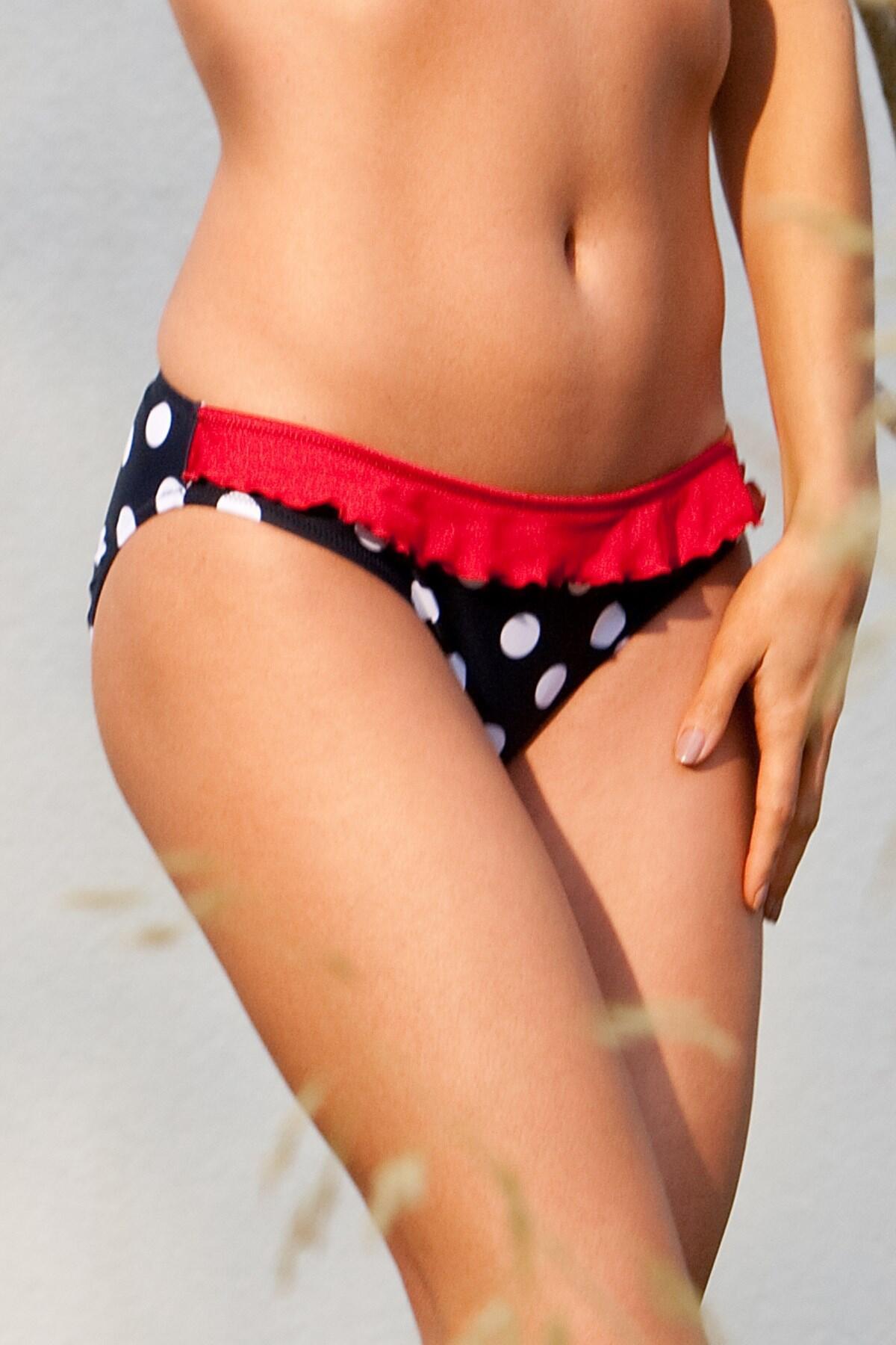Ahoy Spotty Bikini Brief - Navy/White