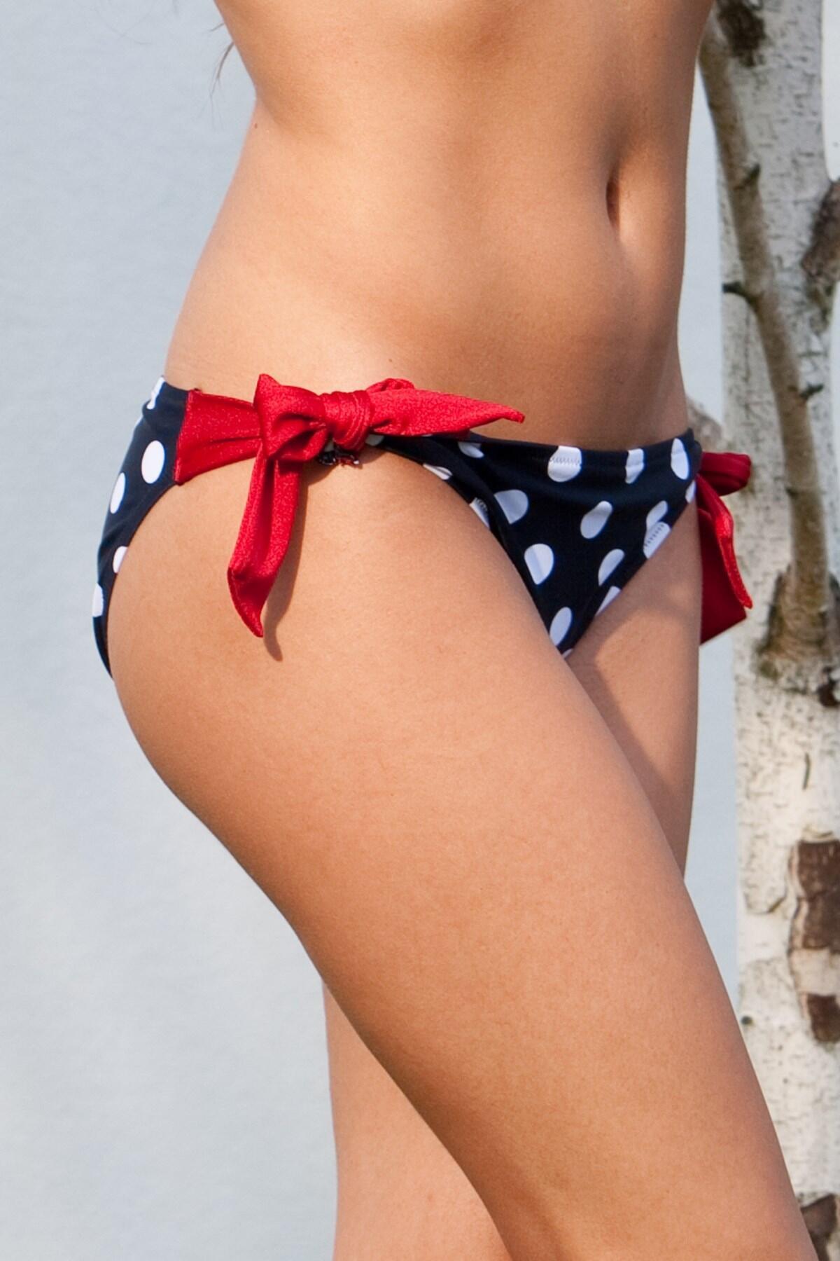 Ahoy Spotty Tie Side Brief - Navy/White