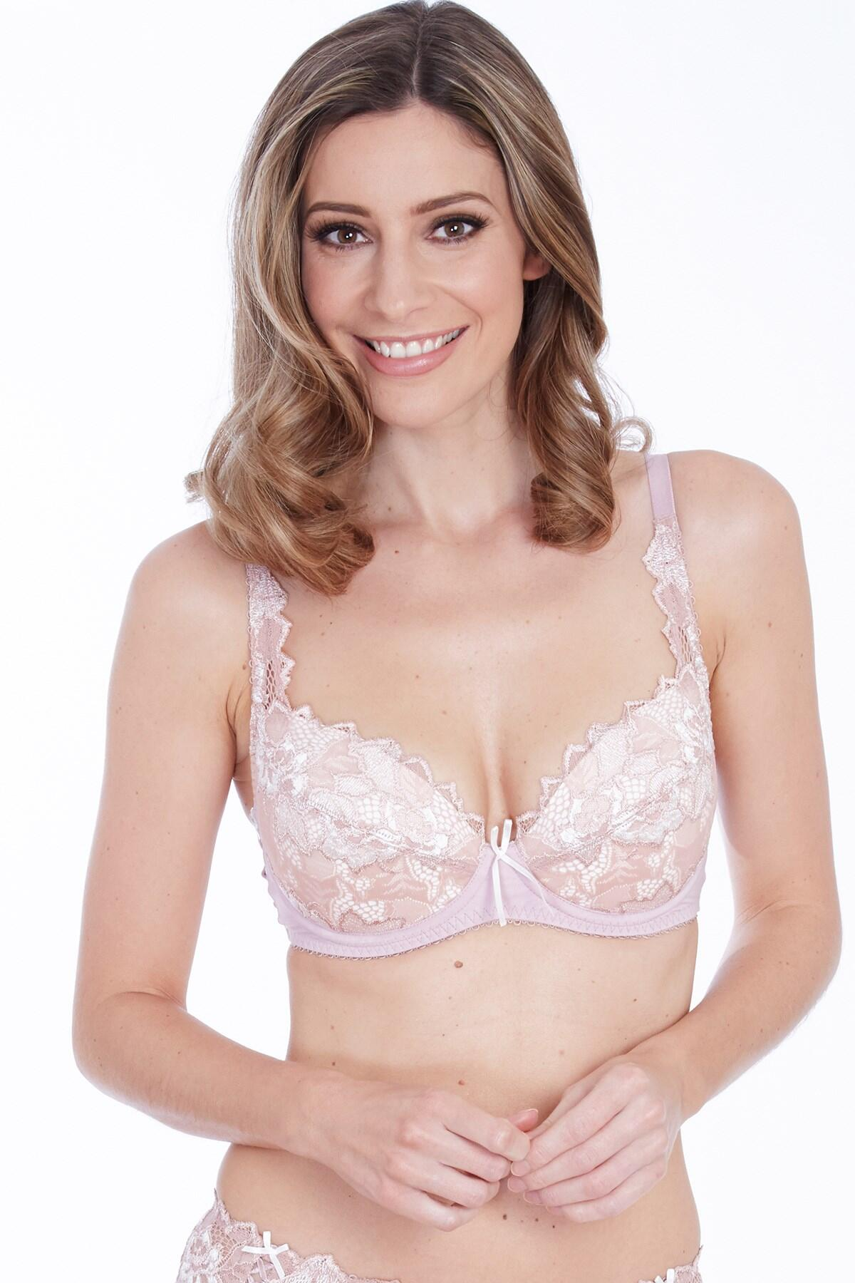 Fiore Plunge Bra - Rose Gold/Ivory