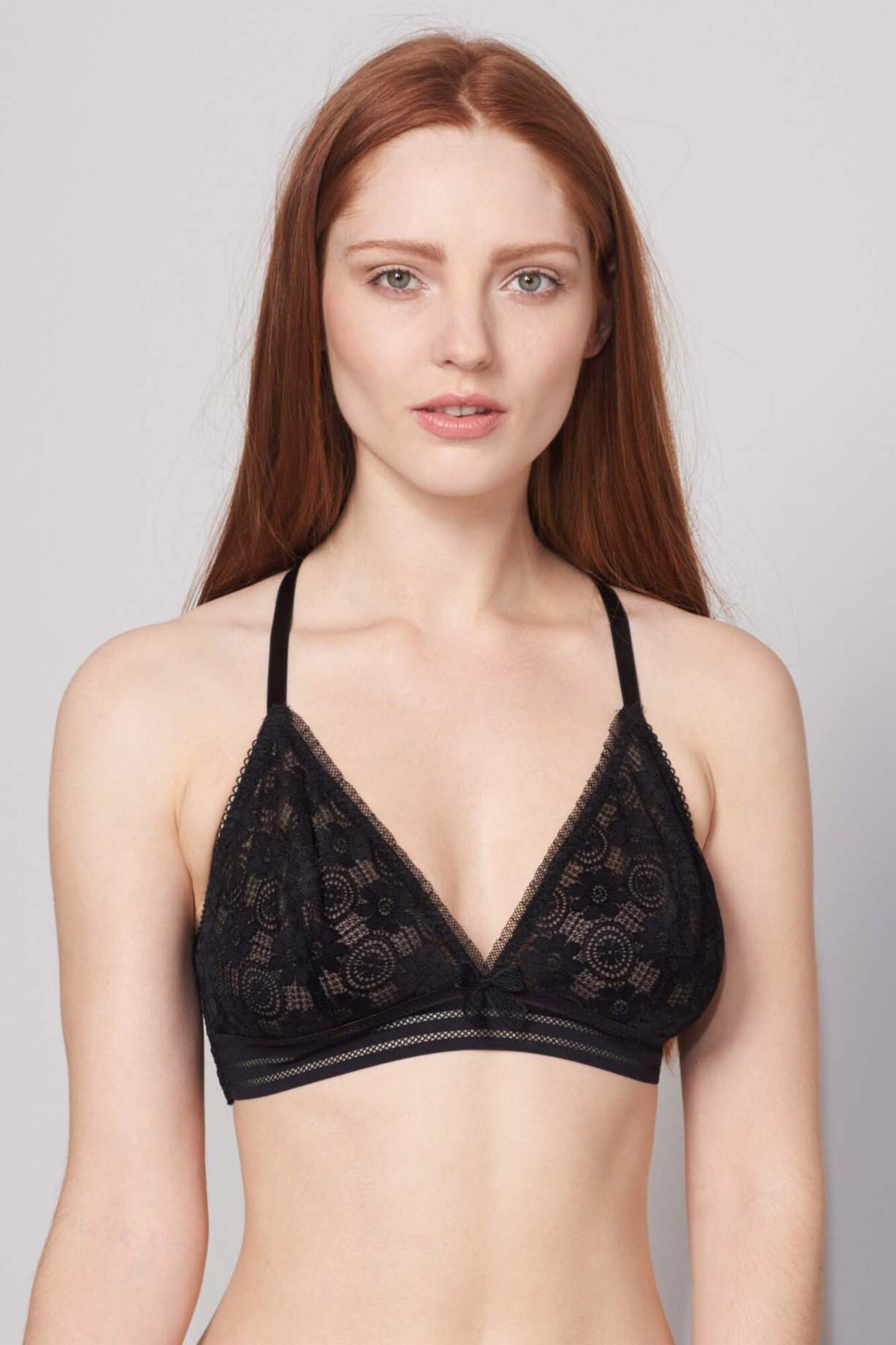 Charlie Triangle Bra - Black