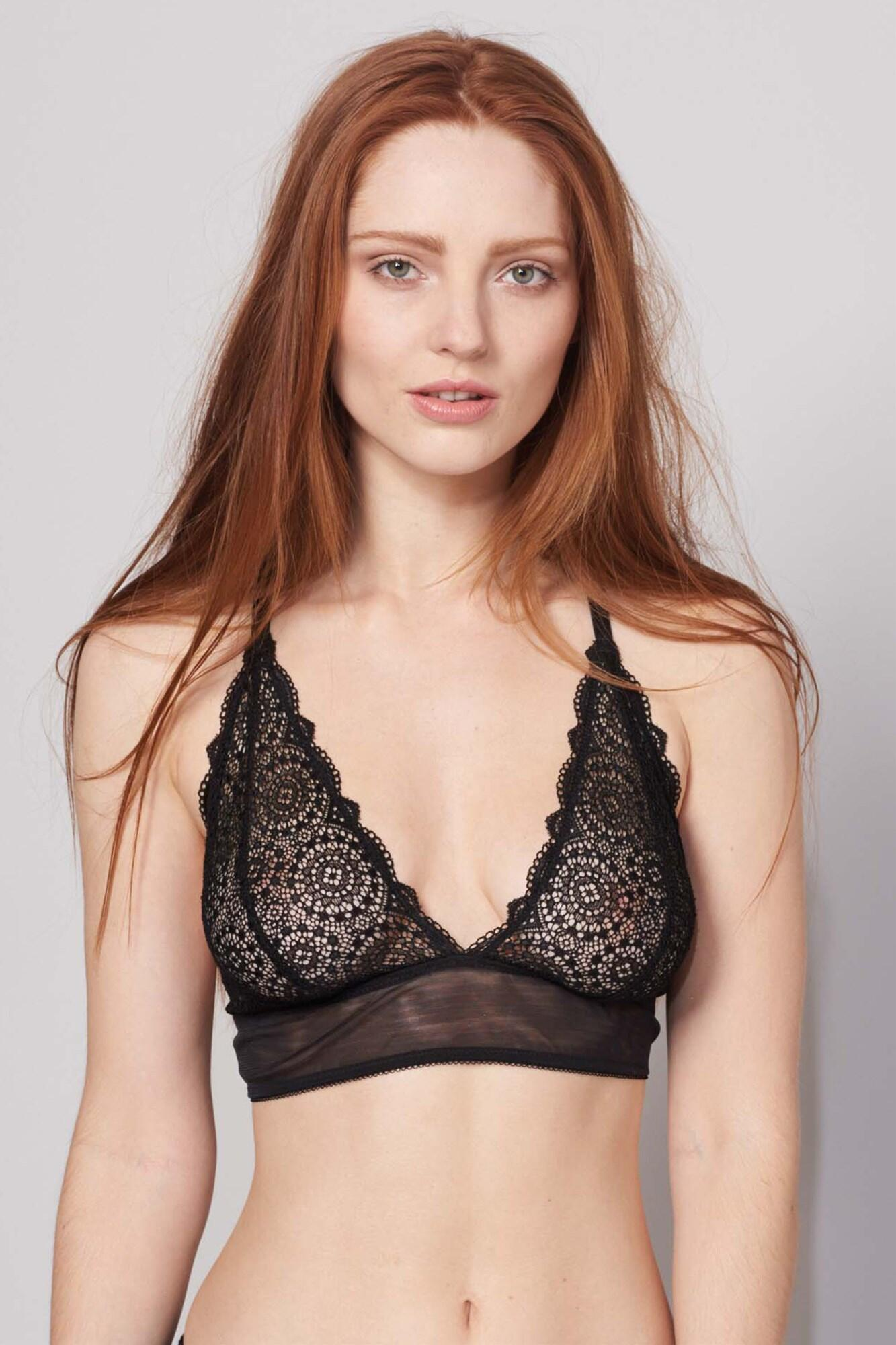 Sophia Triangle Bra - Black