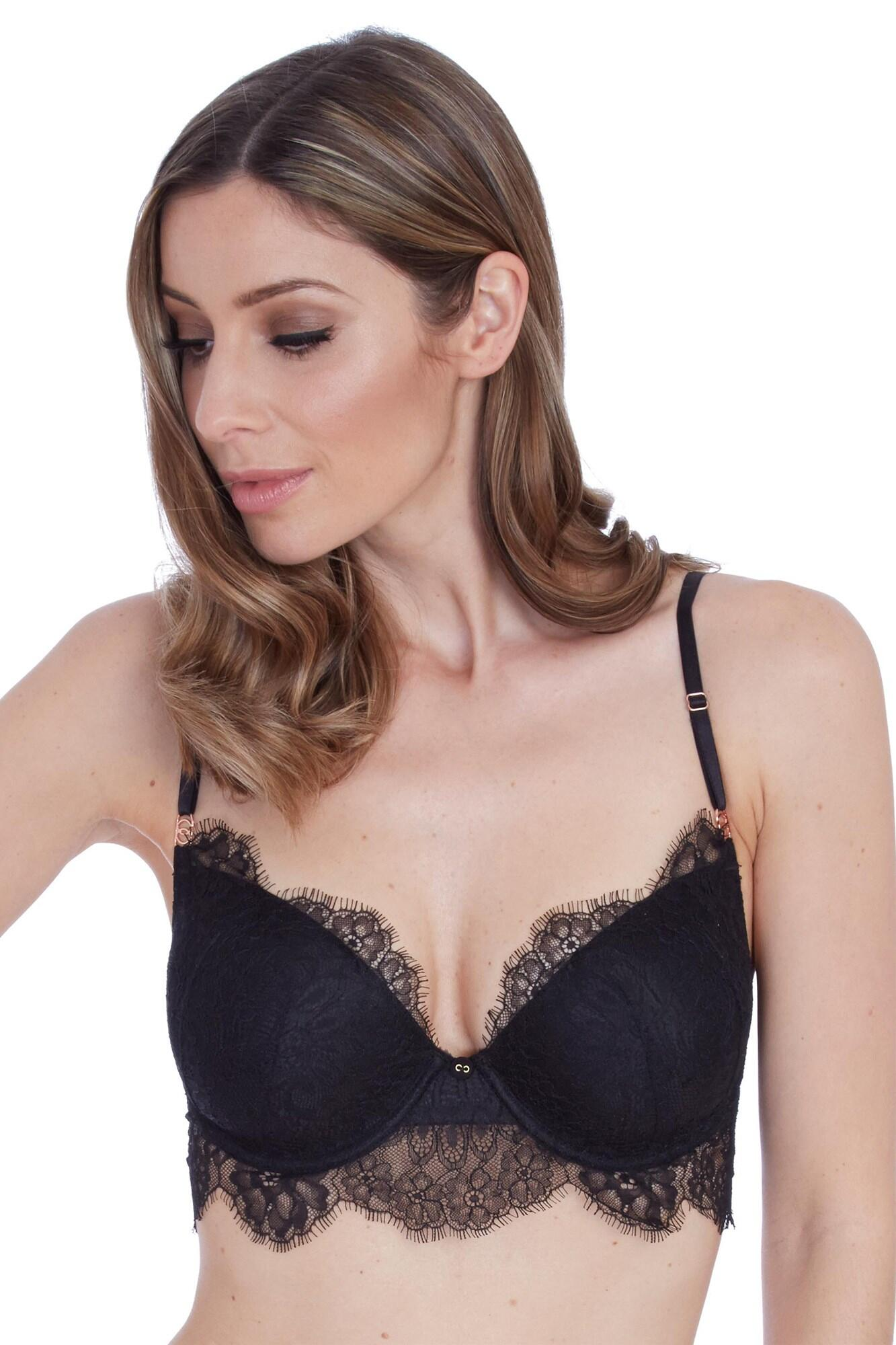 Alex Padded Plunge Bra - Black