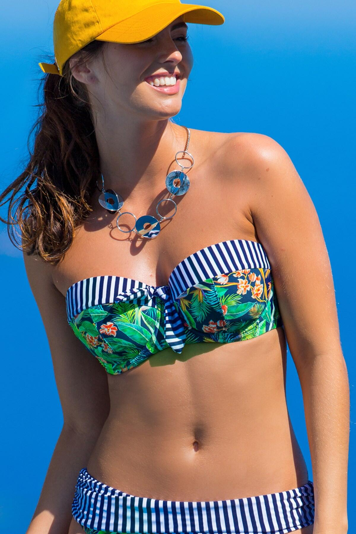 Havana Breeze Strapless Padded Top - Multi