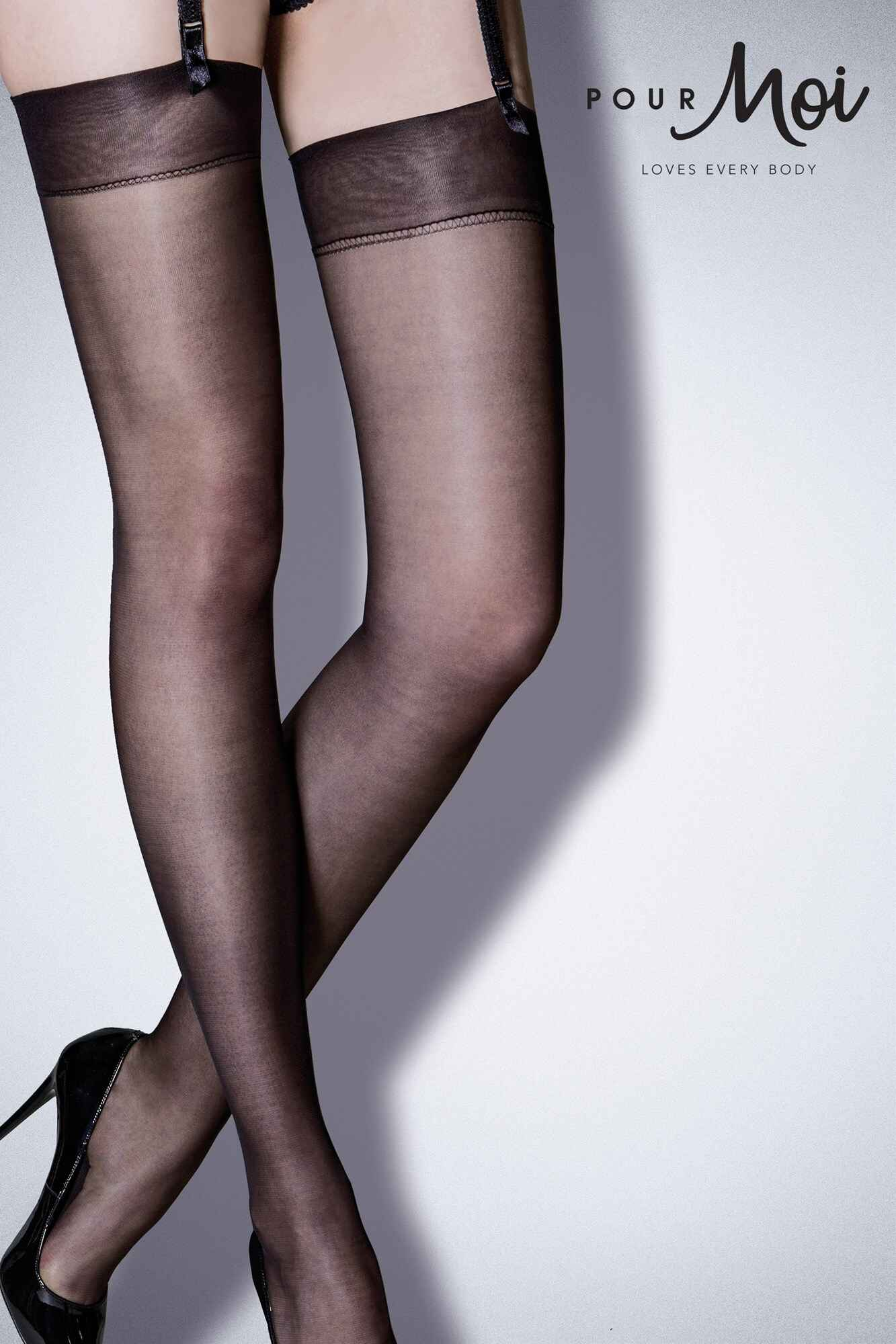 Womens Imagine Lace Hold Stockings Pour Moi