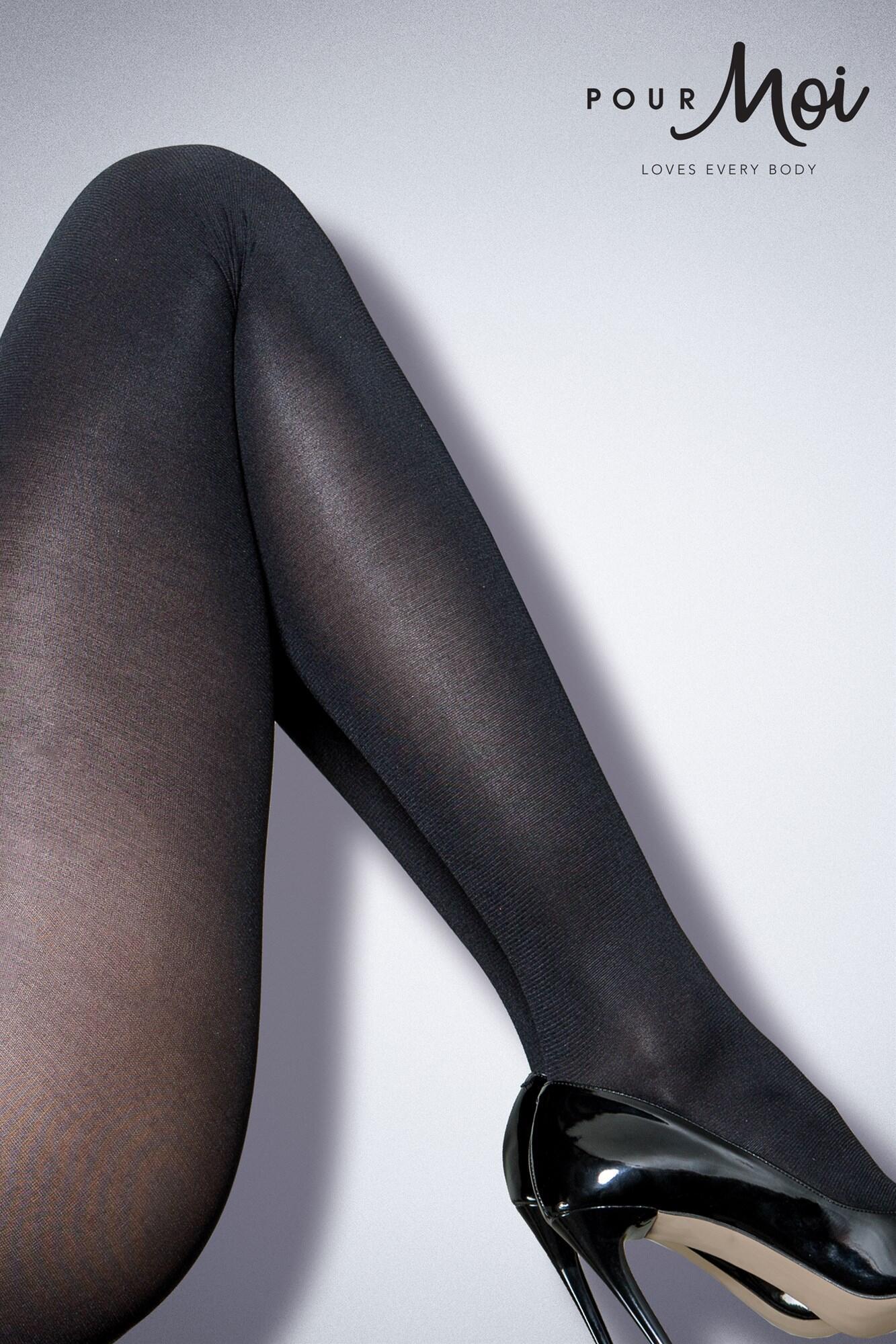 Refined Velvet Touch 40 Denier Tights - Black