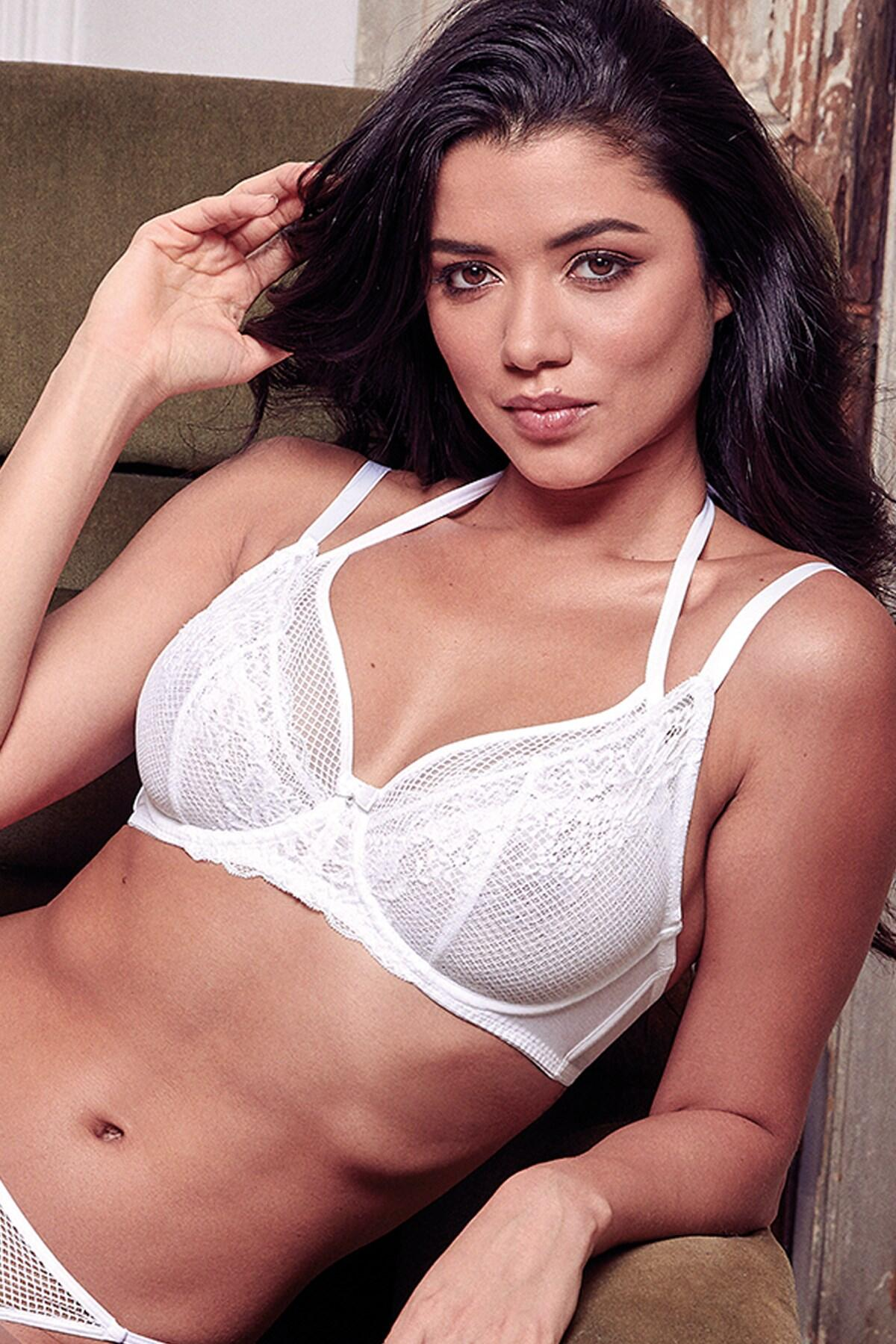 Suspense Double Strap Underwired Bra - White