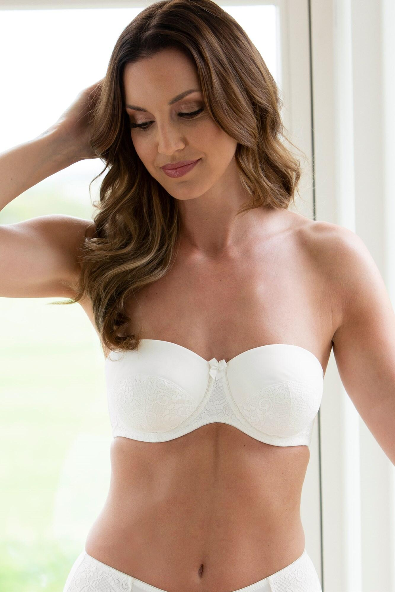 Superfit Lace Strapless Bra - Ivory