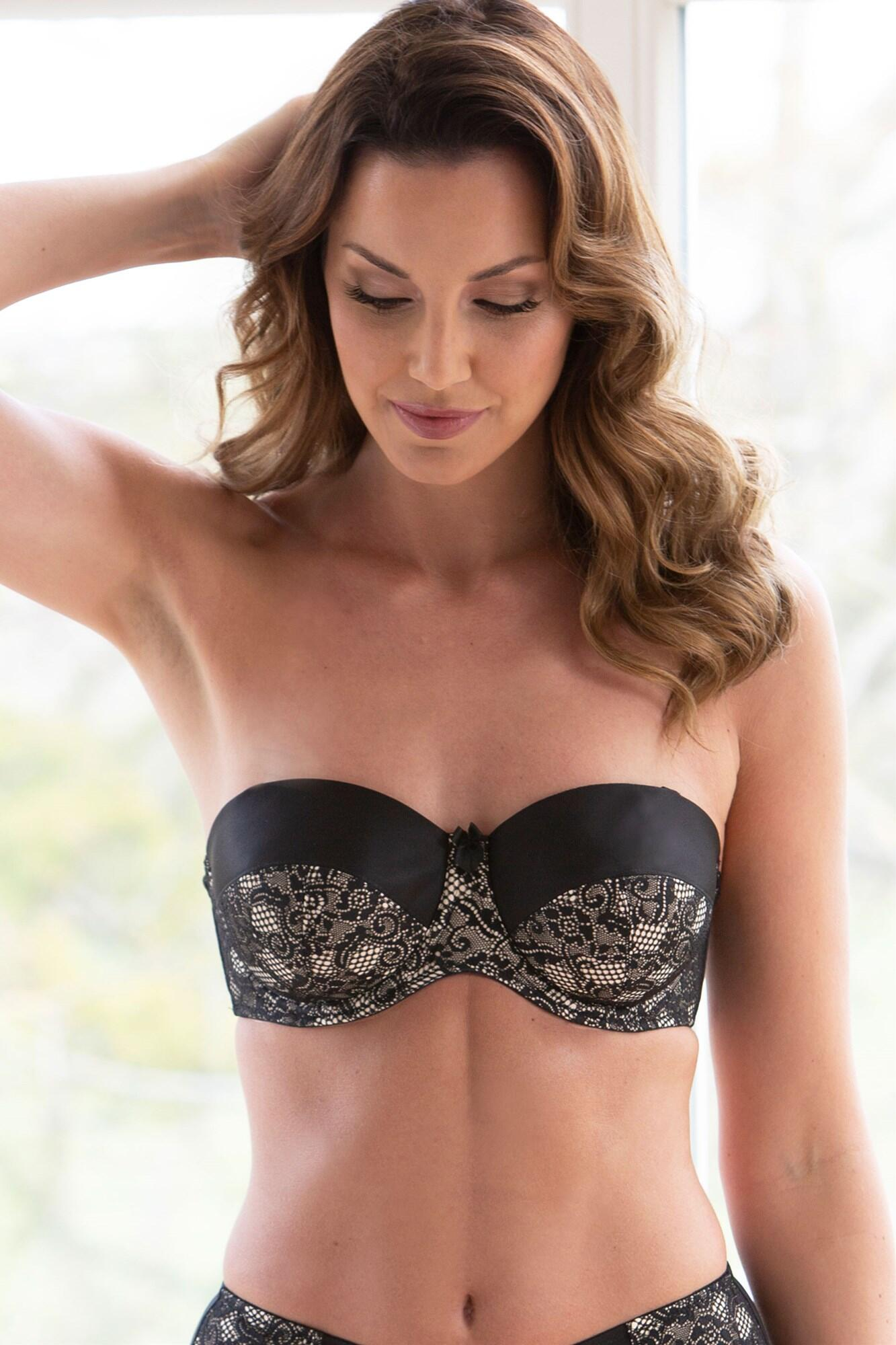 Superfit Lace Strapless Bra - Black/Nude