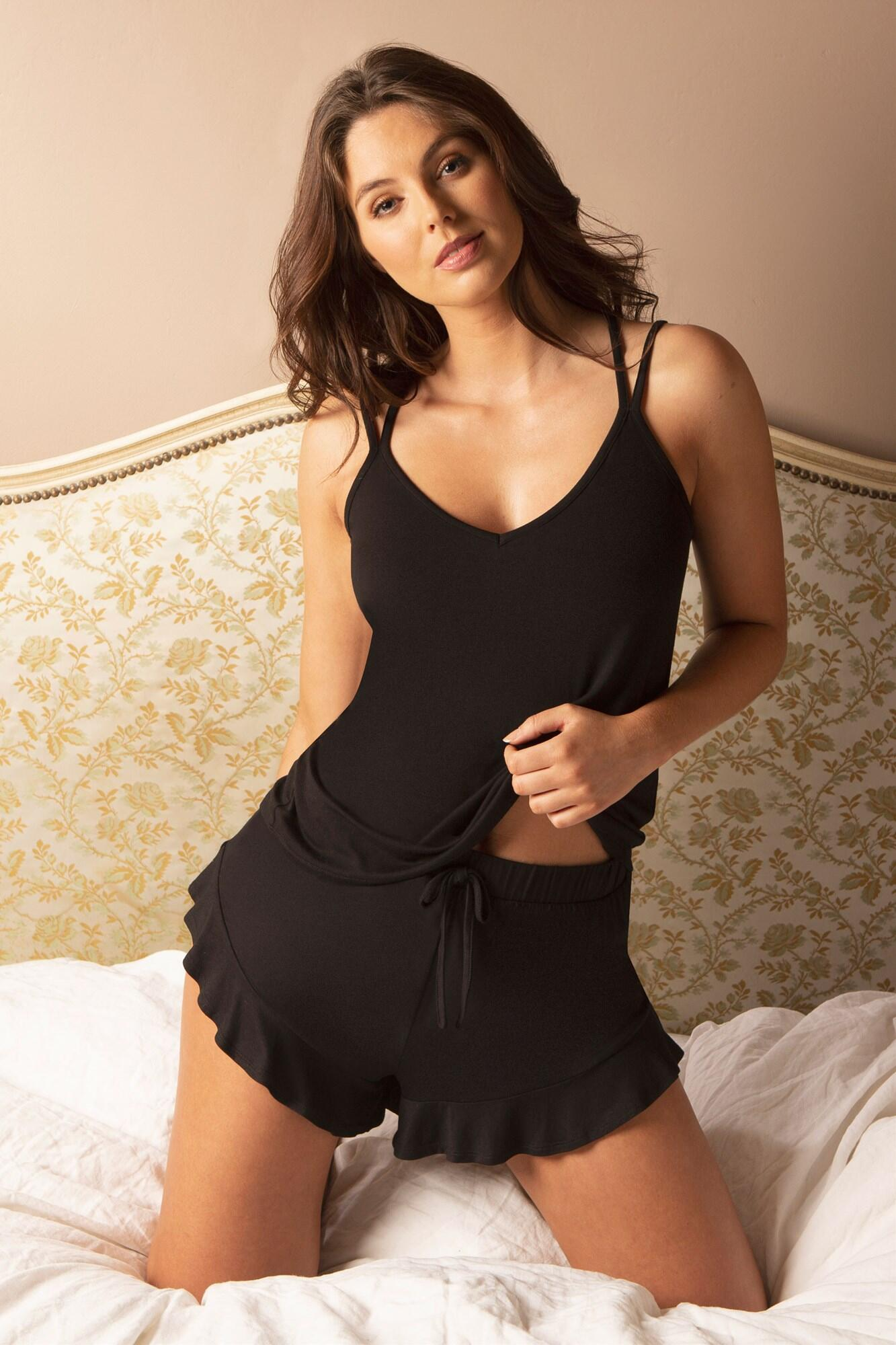 Sofa Love Double Strap Camisole - Black