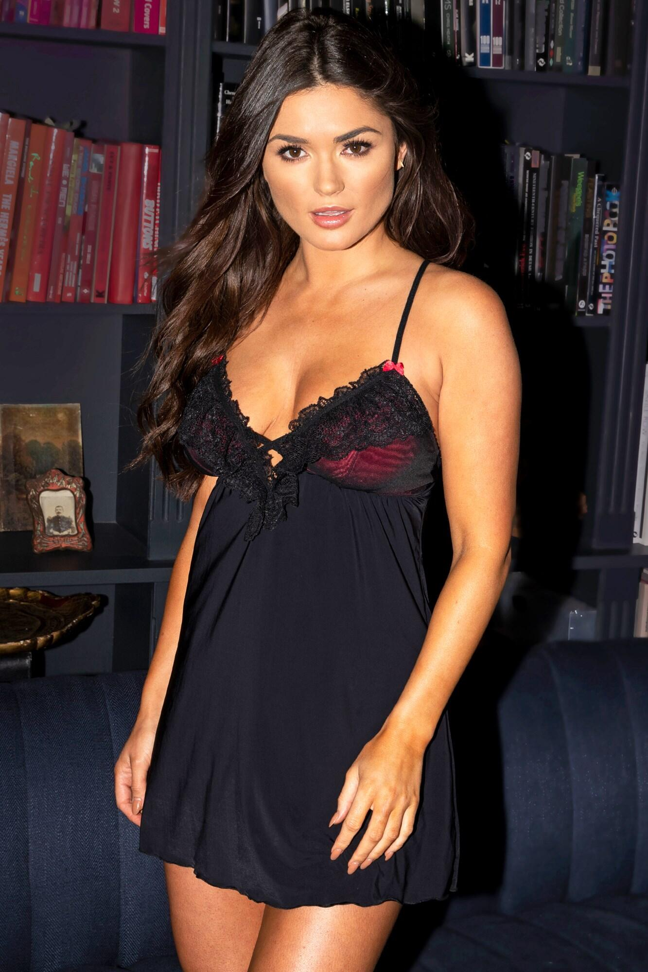 Imagine Chemise - Black/Red